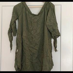 Dresses & Skirts - Off shoulder Green dresss